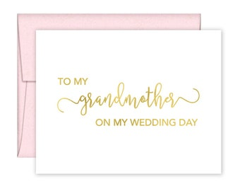 To My Grandmother on my Wedding Day Card - Wedding Card - Day of Wedding Cards - Grandmother Wedding Card - To my grandmother (CH-AA9)
