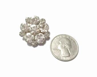 Vintage Juliana Brooch White Rhinestone Sweet Flower Bridal 1950s D &E Pin