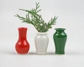 Little Buddies Bud Vases - Christmas Trio