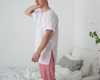 Sleepwear Shirt and Pants for Men >> striped