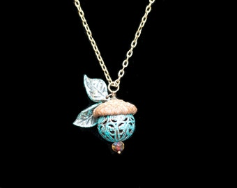 Acorn Necklace Real Acorn Cap Necklace Forest Fairy Necklace Acorn Jewelry Woodland Fairy Necklace Fairy Jewelry Acorn Pendant Necklace