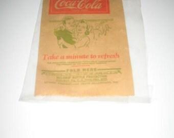 Vintage Coca-Cola Paper No-Drip Bottle Protector
