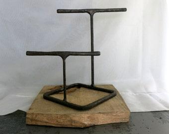 Rustic Steel Bracelet Display, Industrial Style, Reclaimed Steel, Craft Fair Display