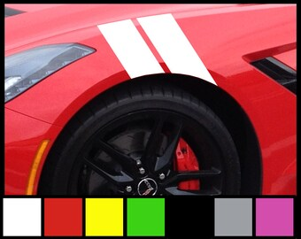 Fender Stripers hash marks - Vinyl Decal Universal for Car truck fender euro sticker racing stripe black red white silver