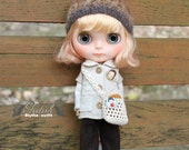 Girlish - Beige Dolly Set for Blythe doll - dress / outfit