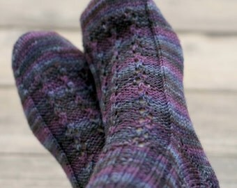 Knit socks for women, wool socks, knit leg warmers, knitted socks, purple knit socks, gift for her