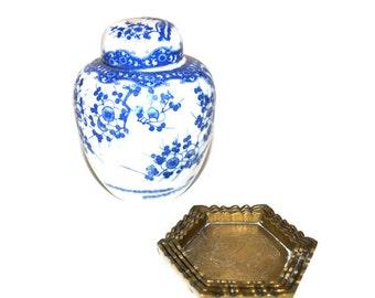 Brass Ashtray Stacking Ashtrays Chinoiserie Asian Ashtrays Tobacciana Barware Brass Trinket Dishes Set of 4 Ashtrays
