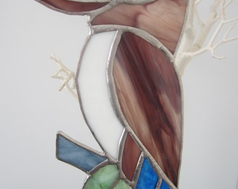 Kookaburra Stained Glass Suncatcher