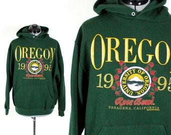 Vintage Retro Oregon Rose Bowl Sweatshirt Large