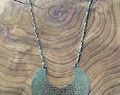 Vintage Silver Crescent Necklace