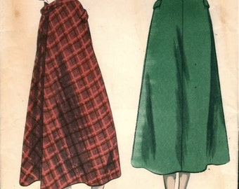 Great Vintage 1940s Vogue 6491 Flared Back Midi Skirt Sewing Pattern W28