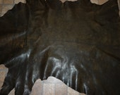 """Leather 45""""x28"""" Marbled Brown Distressed looking Bomber Jacket 10.75 sq ft GOATSKIN 3 oz / 1.2 mm PeggySueAlso #455"""