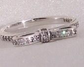 "Pandora ""Sparkling Bow Ring"" Mod CZ Genuine Designer High Fashion Jewelry Glam Ring Size 7 FREE SHIPPING"