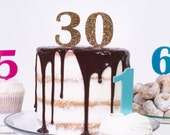 Number Age Birthday Cake Topper