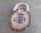 Small Wedding Ring Box | Anniversary Ring Box | Wooden Ring Box