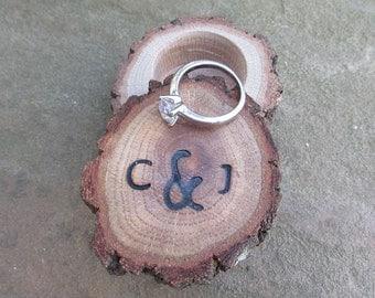 Small Wedding Ring Box   Anniversary Ring Box   Wooden Ring Box