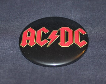 """AC/DC Hard Rock Metal Pinback Button or Magnet 2.25"""""""