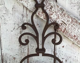 Wrought Iron metal Architectural Salvage decor