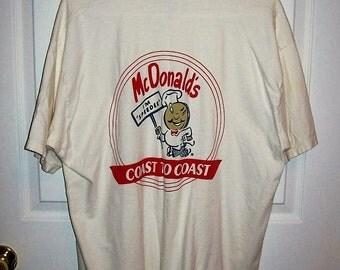 Vintage McDonalds 'I'm Speedee' Retro T Shirt XL Only 10 USD