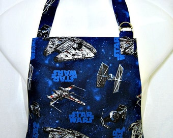 Apron Mans, STAR WARS, Sci-Fi NEW in Blue & Black, Force Awakens, Chefs Style Grill Unique Kitchen Gift