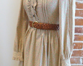 Vintage Laura Ashley Floral Victorian Shirtwaist  Dress Size 10US
