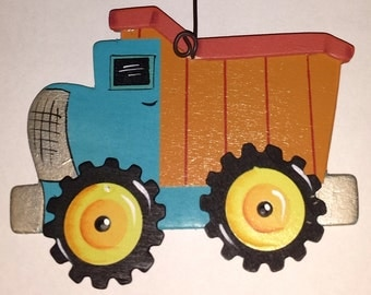 Dump Truck Ornament/Gift Tag/Party Favor  -- OV4