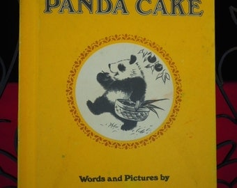 "Vintage 1978  ""Panda Cake"" Book Childrens Story by Rosalie Seidler  -"
