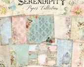 Blue Fern New Release Serendipity Collection 12 x 12 Scrapbook Paper Pad Full Collection Pack, 2-Each Of 10 Designs, 20 Double Sided Papers