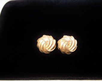 Vintage Screwback Earrings by Napier-Goldtone
