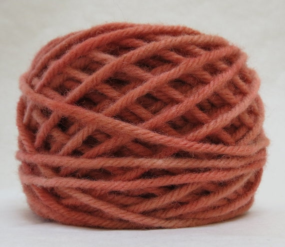 ROUGE, 100% Wool, 2 oz. 43 yards, 4-Ply, Bulky weight or 3-ply Worsted weight yarn, already wound into cakes, ready to use, made to order