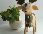 Spirit deer. Animal totem. Soft sculpture. Felt decoration. Deer doll. Woodland decor. Plush. Felt deer. Art doll. Home decor