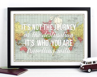 World Map, Love Quote, Wanderlust, Personalised, World Map Print, Valentines, Wedding Gift, Love, Travel, World Map Poster, Bridal Shower