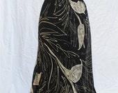 1970's Black Maxi Skirt Size Large