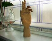 Vintage Articulated Wooden Artist's Hand