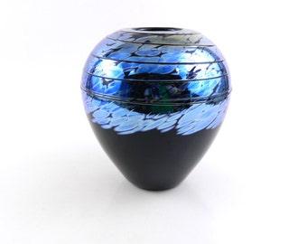 Black Blown Glass Vase
