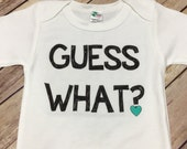 Guess What? I'm going to be a big Sis/Bro one piece or Shirt (Custom Text Colors/Wording)