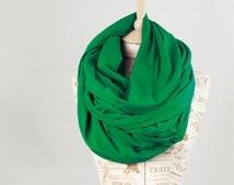Oversized Scarf Chunky, Green Scarf Hooded Infinity Scarf, Kelly Cotton Winter Circle Scarf, Extra Large Nomad Shawl, Hood Scarves Gift Her