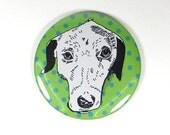Catahoula dog portrait magnet - catahoula cur illustration - Hound dog magnet - dog drawing gift - cute polka dots - funny hound dog magnet