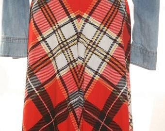Lumberjack Plaid palazzo pants Size 4