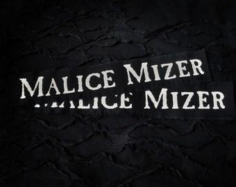 Malice Mizer Jrock Visual kei Punk Patch - Black, White