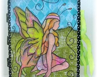 Scrapbook, Smash Book, Photo Album, Fairy, OOAK