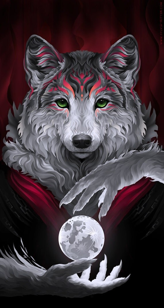 Wily Werewolf Signed Giclee Print