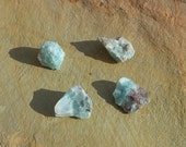 Larimar Crystals, Natural Pectolite,4x Raw Rough Mineral Rocks ~ 10g  15-20 mm ~ Dolphin Stone ~ Crystal Gridding ~ Intuition ~ (96-5)