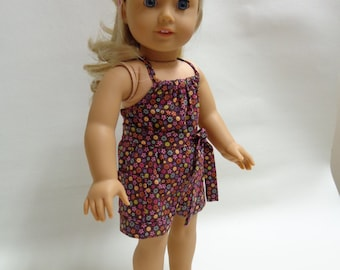18 inch American Girl Doll Clothes - Halter Romper for Summer