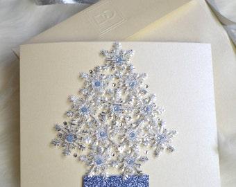 Christmas Greeting Card: 'Snowflake Tree'