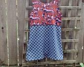 Funky African Batik Mashup Tank Dress/ Eco Upcycled Tank top Dress Summer Festival Hippie Boho Dress Size Small
