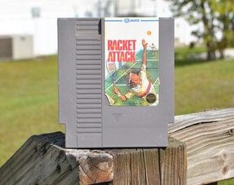 Vintage Nintendo Game Racket Attack Game (NES) By Jaleco 8 bit