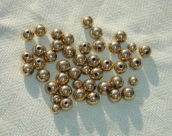 Golden Acrlyic Bead Lot-  22 pcs - Jewelry Making Supplies