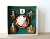 Vintage bunny Peter Rabbit game / Beatrix Potter / Easter bunny board game / blackberry basket game / bunny board game / children's classic