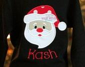 Long Sleeve Personalized Santa Shirt-Santa shirts-Santa personalized shirt